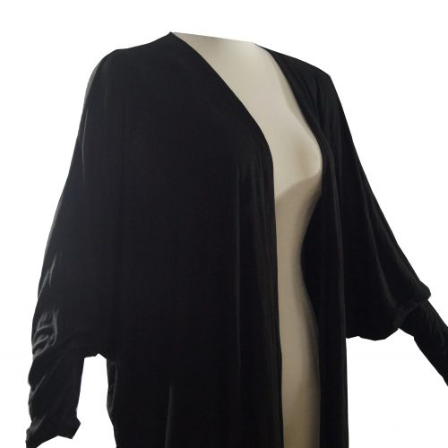 Black Dolman Duster on TohniStyle