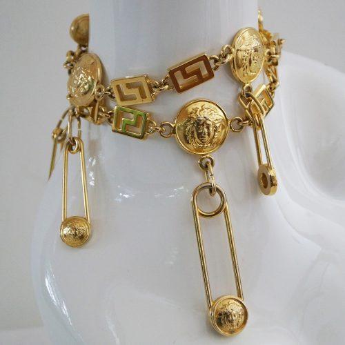 Vintage versace belt necklace