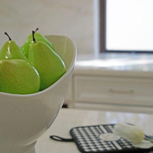 Faux pears vase fillers